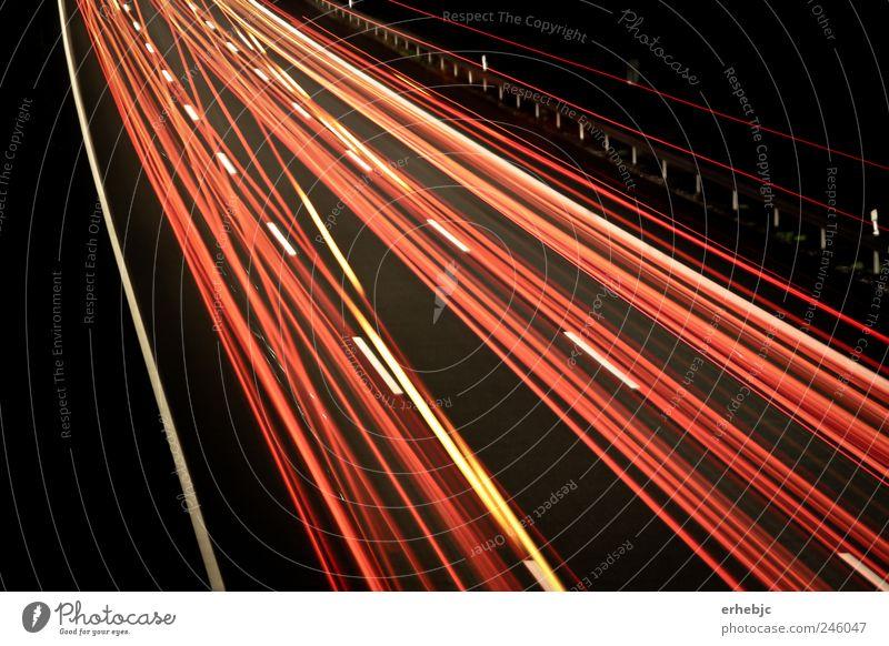 Pure Geschwindigkeit rot Straße Bewegung Energie Design ästhetisch fahren Güterverkehr & Logistik Kreativität Autobahn Flüssigkeit Dienstleistungsgewerbe