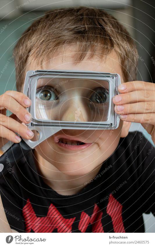 Der Durchblicker Kindergarten Schule Büro Gesicht Auge 3-8 Jahre Kindheit Glas beobachten entdecken festhalten Fröhlichkeit Neugier Optimismus Abenteuer