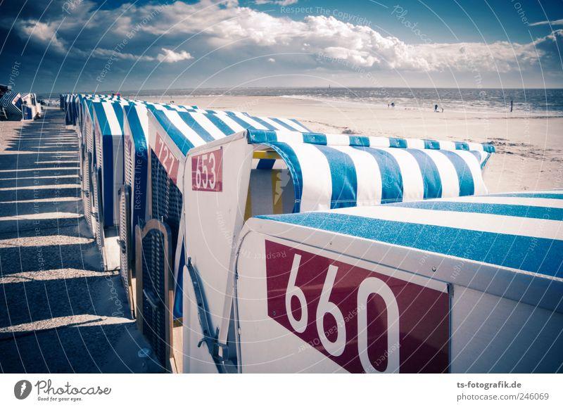 Staumelder 660 Natur Wasser weiß blau Strand Ferien & Urlaub & Reisen Wolken Umwelt Linie Wellen Wind Horizont Insel Tourismus stehen Streifen