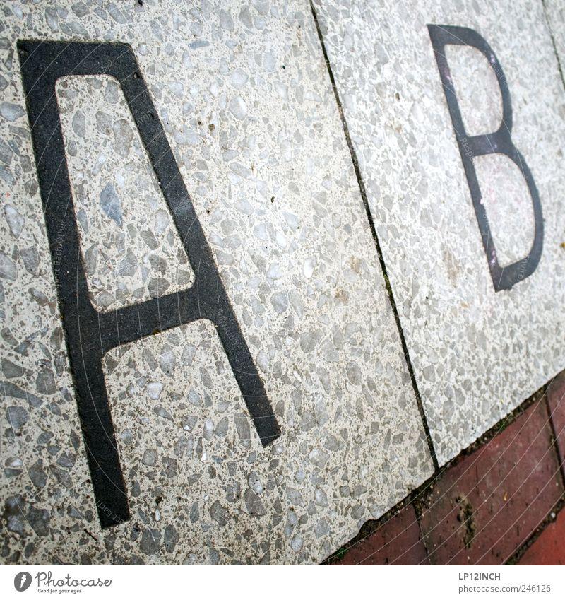A B Stein Beginn Schriftzeichen Hamburg Bodenbelag Buchstaben Backstein Wort Außenaufnahme alphabetisch