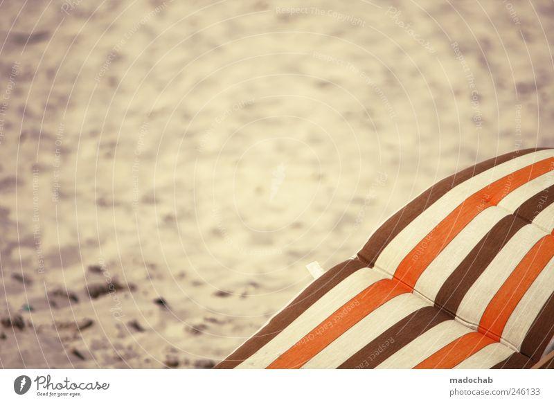 Ende gut, Glück in der Liebe. Freude Sommer Strand Einsamkeit Freiheit Gefühle Sand Stimmung braun orange Zufriedenheit Energie Freizeit & Hobby Fröhlichkeit