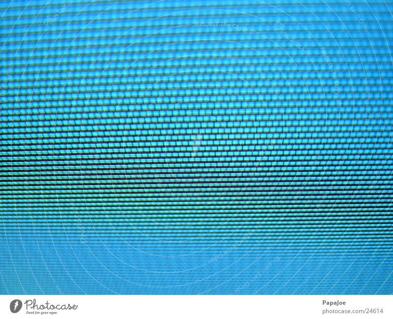 Mattscheibe Bildschirm Bildpunkt Fernseher Makroaufnahme Nahaufnahme Lochmaske blau