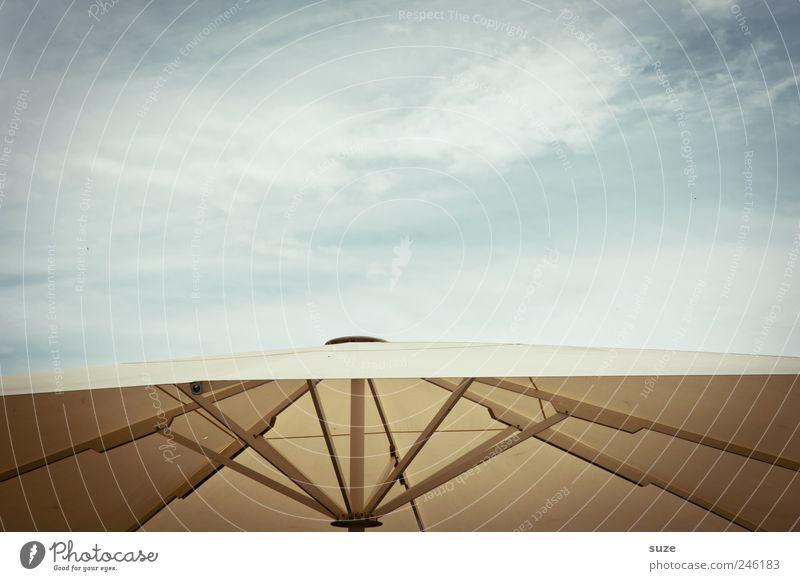 Schirmherrschaft Ferien & Urlaub & Reisen Sommer Umwelt Luft Himmel Wolken Schönes Wetter einfach Sonnenschirm Wetterschutz Material gespannt Farbfoto