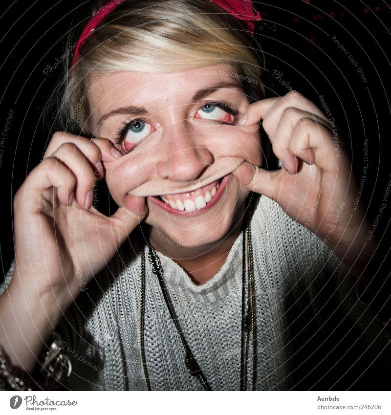 Pure Vernunft darf niemals siegen, part 2 Mensch Jugendliche Gesicht Erwachsene Kopf lustig blond außergewöhnlich 18-30 Jahre Zähne Junge Frau gruselig Grimasse