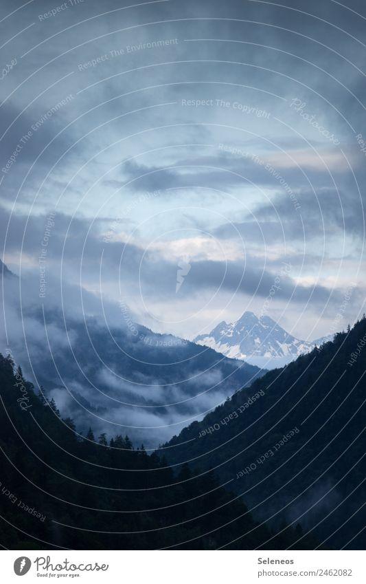 Zielgerade Ferien & Urlaub & Reisen Ausflug Abenteuer Ferne Freiheit Umwelt Natur Landschaft Himmel Wolken Horizont Alpen Berge u. Gebirge Gipfel