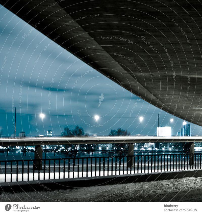 under the bridge Werbebranche Handwerk Baustelle Energiewirtschaft Kunst Düsseldorf Stadt Hauptstadt Hochhaus Bankgebäude Bauwerk Gebäude Architektur Verkehr