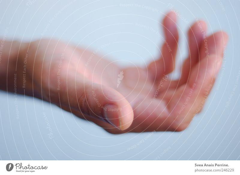 geben und nehmen. Mensch Hand Erwachsene kalt Wand Mauer Arme Haut maskulin Finger Hoffnung Wunsch festhalten 18-30 Jahre Vertrauen Glaube