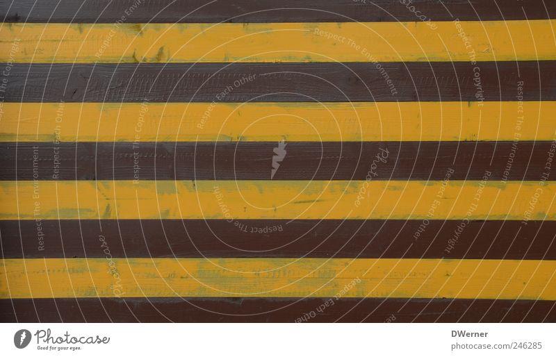 Wand Stil Dekoration & Verzierung Bauwerk Fassade Holz Schilder & Markierungen außergewöhnlich braun gelb Zufriedenheit gleich innovativ Holzbrett Zaun Barriere