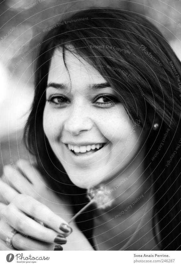 pusteblume. Mensch Jugendliche Hand schön Freude Erwachsene Gesicht feminin Haare & Frisuren Glück lachen Park Zufriedenheit natürlich frisch Fröhlichkeit