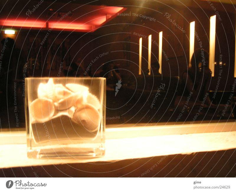 glas1 Licht Stil Muschel Bar Glas Sand