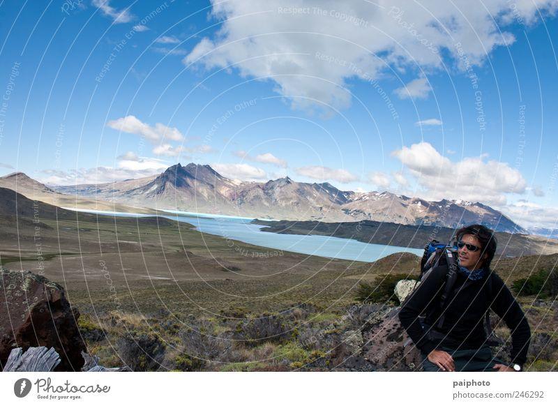 Mensch Natur Ferien & Urlaub & Reisen ruhig Ferne Freiheit Berge u. Gebirge Landschaft Umwelt Wetter Zufriedenheit laufen wandern Abenteuer Tourismus maskulin