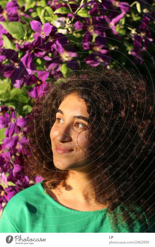 Mensch Jugendliche Junge Frau schön Blume Erholung ruhig Freude Lifestyle Leben Gefühle Familie & Verwandtschaft Stil Mode Stimmung Häusliches Leben