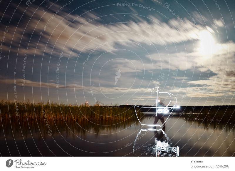 captain kong Mensch Himmel Wasser Landschaft See Wasserfahrzeug Wind fahren malen zeichnen Bucht Seeufer Segeln Schilfrohr Schifffahrt Geister u. Gespenster