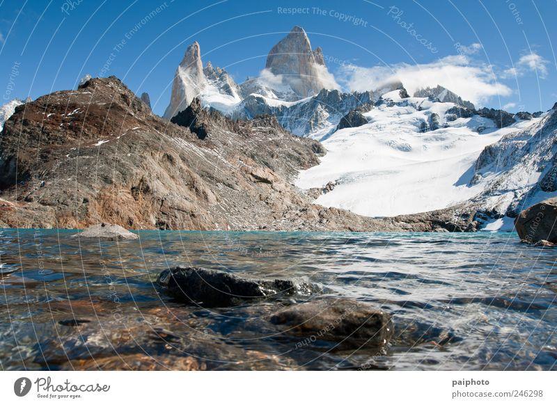 Himmel Natur schön Ferien & Urlaub & Reisen Sommer ruhig Ferne Umwelt Landschaft Berge u. Gebirge Freiheit Erde Eis Wetter natürlich wandern
