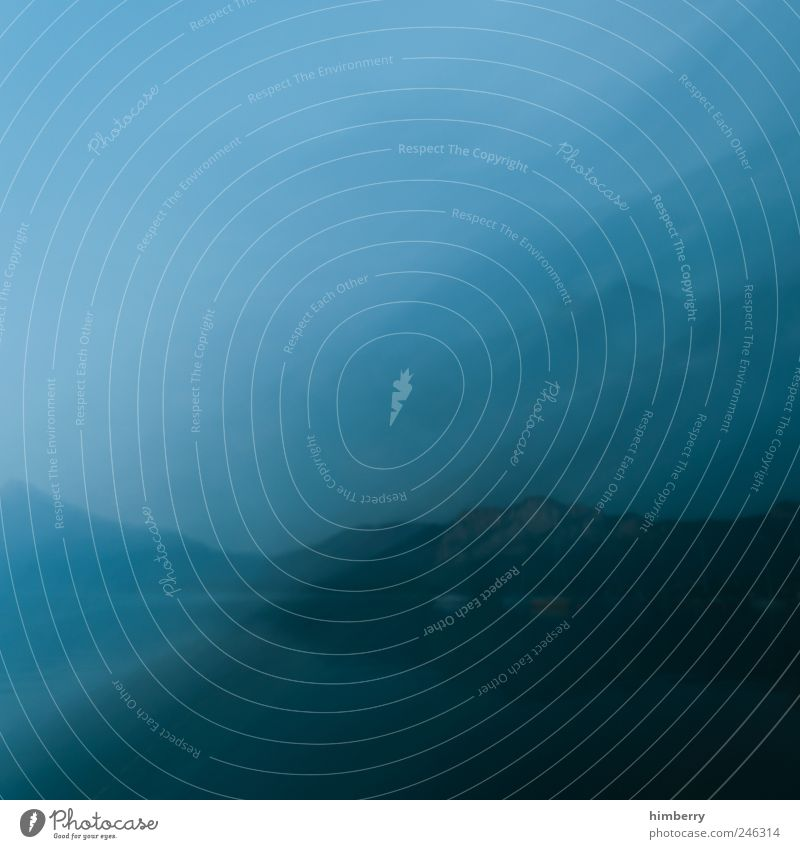 filmriß Erholung ruhig Kunst Medien Umwelt Natur Landschaft Wasser Sommer Winter Klima Klimawandel Wetter Nebel Alpen Berge u. Gebirge See Mondsee beobachten
