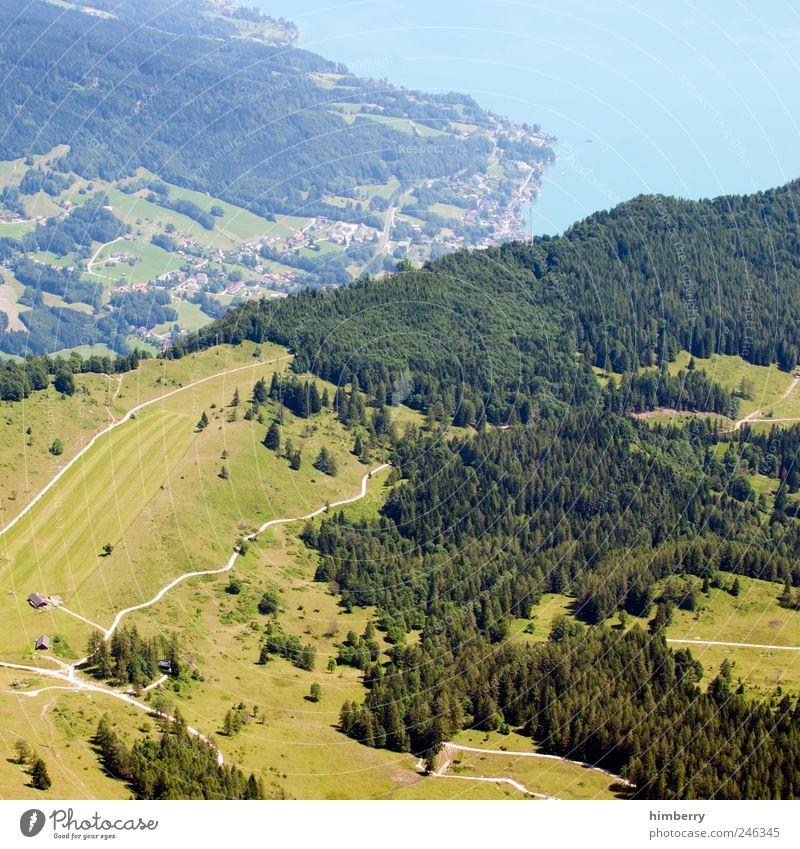 stadt land fluss Natur Wasser Baum Ferien & Urlaub & Reisen Sommer Wald Ferne Umwelt Landschaft Wiese Berge u. Gebirge Freiheit Erde Klima wandern Ausflug