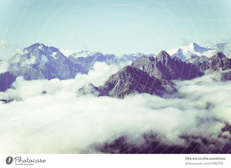 üüber den wolken Himmel Natur blau Sommer Ferne Freiheit Berge u. Gebirge Landschaft Umwelt wandern Nebel Ausflug Felsen Klettern Schweiz Alpen