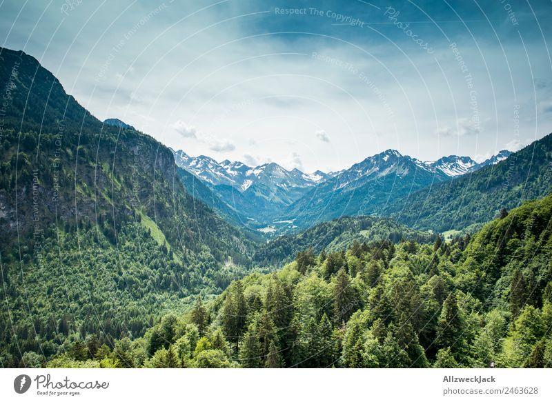 Bergpanorama in Südtirol Deutschland Menschenleer Tag Wolken Berge u. Gebirge Panorama (Aussicht) Alpen Gipfel Schneebedeckte Gipfel Hügel Geschwindigkeit