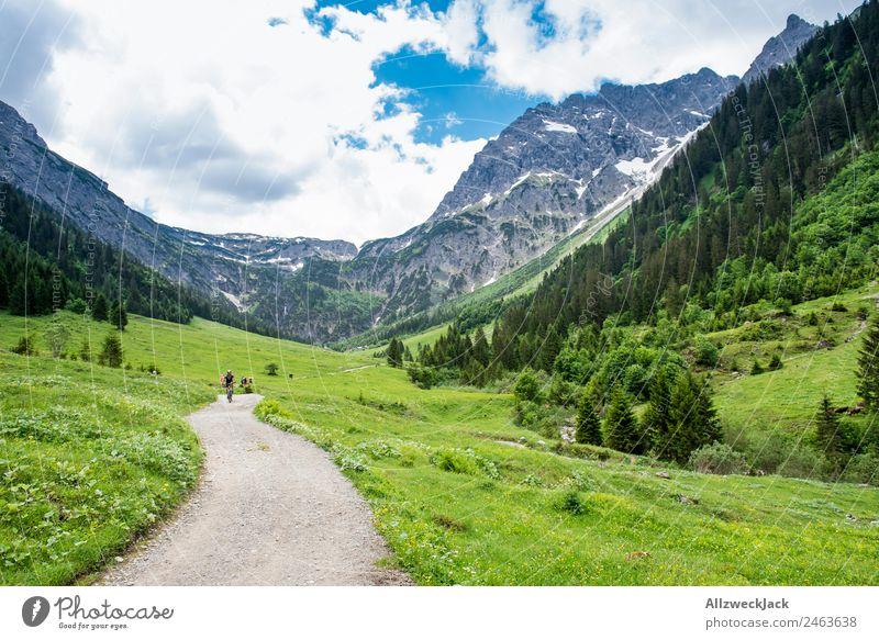 Wanderweg durch ein Tal in Südtirol Tag Schönes Wetter Wolken Natur grün Baum Wald Berge u. Gebirge Idylle Ferien & Urlaub & Reisen Reisefotografie wandern
