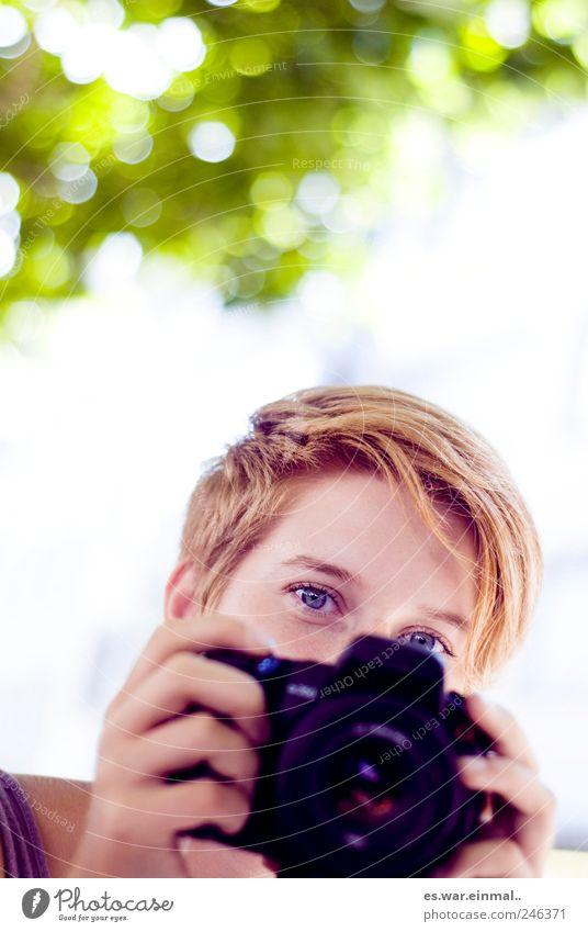 foto schön Auge feminin Fotokamera Fotograf Fotografieren