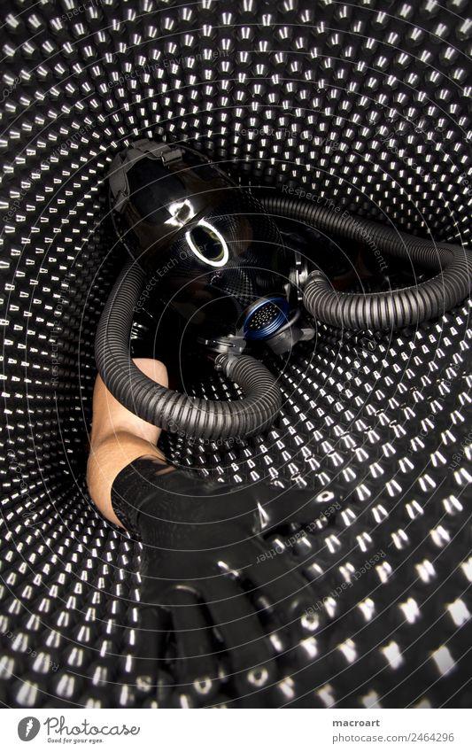 Latex Fetischismus noppenbahn Maske Visier Reflexion & Spiegelung Schlauch blau schwarz Porträt Cat Suit ringlicht Sexualität Gesicht Erotik grundmauerschutz