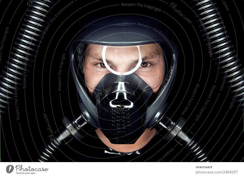 maske Fetischismus Maske Visier Reflexion & Spiegelung Schlauch blau schwarz Porträt Latex latexanzug Cat Suit ringlicht Sexualität Gesicht Erotik Auge