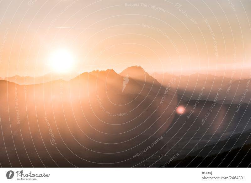 zeitlos l und jeden Tag neu Natur Sommer Sonne Landschaft Erholung ruhig Berge u. Gebirge Freiheit wandern leuchten Idylle Lebensfreude Gipfel Hoffnung Alpen