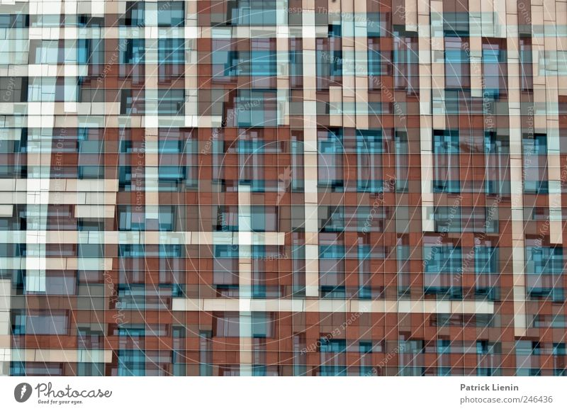 Tetris Kunst Kunstwerk Stadt Stadtzentrum Haus Bauwerk Gebäude Architektur Mauer Wand Fassade ästhetisch Design einzigartig Genauigkeit komplex Kraft