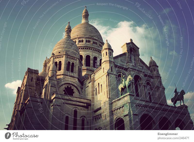 Sacré Coeur Paris Frankreich Europa Altstadt Kirche Architektur Sehenswürdigkeit Sacré-Coeur alt Bekanntheit Basilika Gotteshäuser Religion & Glaube Farbfoto