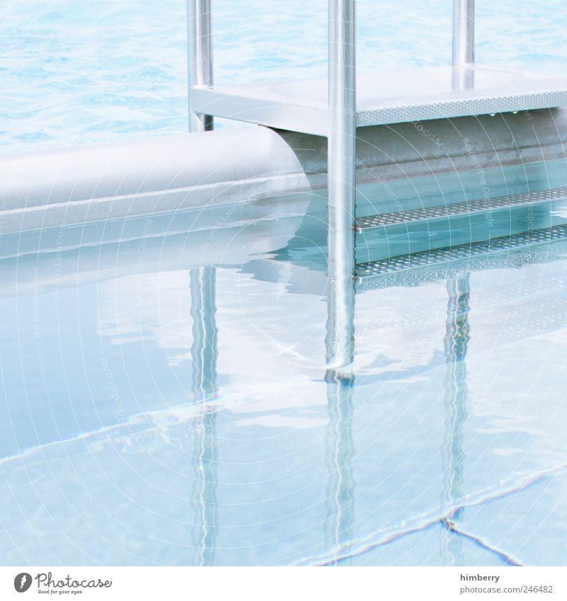 wechselbad blau Wasser Ferien & Urlaub & Reisen Sommer Erholung kalt Metall Kunst hell Schwimmen & Baden Freizeit & Hobby nass Tourismus Lifestyle Schwimmbad Wellness