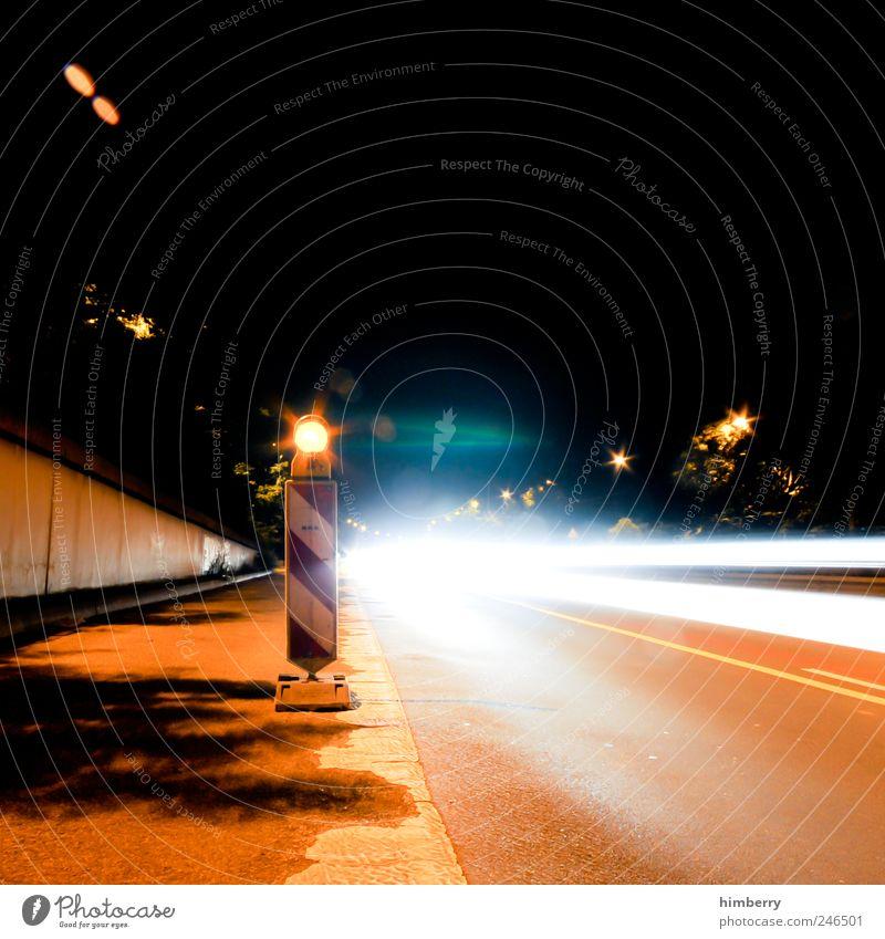 road trip Stadt Straße Bewegung Wege & Pfade Kunst Design Energie Verkehr Geschwindigkeit Perspektive Zukunft Baustelle Technik & Technologie