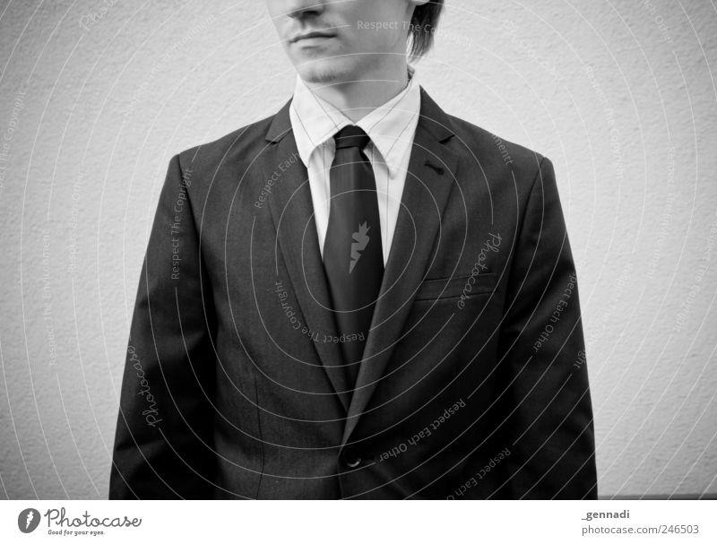 Das war es Mensch Jugendliche Erwachsene Einsamkeit Traurigkeit warten maskulin modern stehen retro 18-30 Jahre Hemd Anzug Langeweile Krawatte Vignettierung