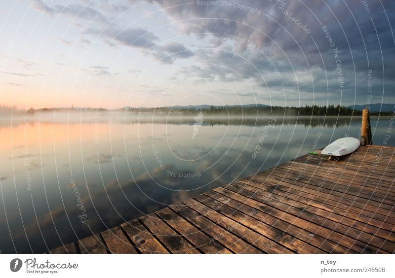 Für Frühaufsteher Himmel Natur Wasser schön Ferien & Urlaub & Reisen Sommer Einsamkeit Wolken ruhig Ferne Erholung Landschaft Gefühle Freiheit See träumen