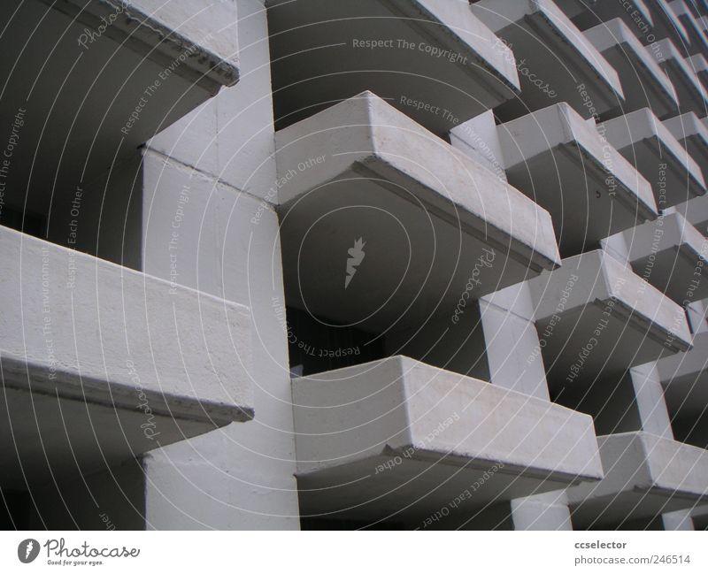 weiß Traurigkeit Fassade Beton Stadtleben Moderne Architektur
