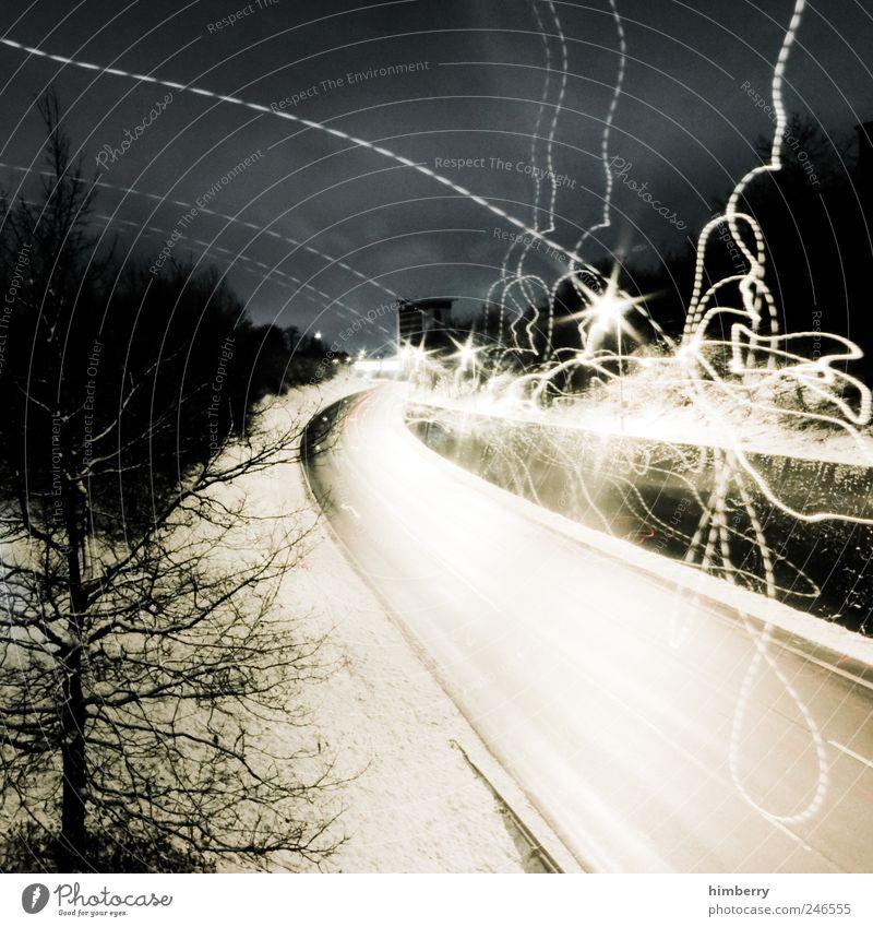 cyclone Winter Straße kalt dunkel Schnee Umwelt hell Eis Wetter Kunst Wind Design Verkehr Energie Klima Frost