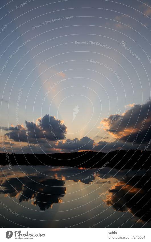schüss Urlaub... Himmel Natur Wasser blau rot Wolken ruhig Ferne schwarz Einsamkeit dunkel Freiheit Landschaft Umwelt Küste Luft