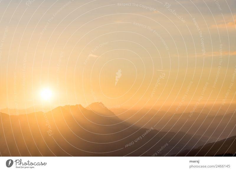 Feiertagsstimmung harmonisch Wohlgefühl Erholung ruhig Ferien & Urlaub & Reisen Tourismus Ausflug Berge u. Gebirge wandern Natur Sonne Sonnenaufgang