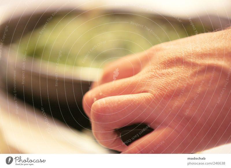 Jedes Böhnchen steckt im Detail. Mann Hand Erwachsene Ernährung Lebensmittel Lifestyle Kochen & Garen & Backen Küche Gastronomie Gemüse Leidenschaft Bioprodukte