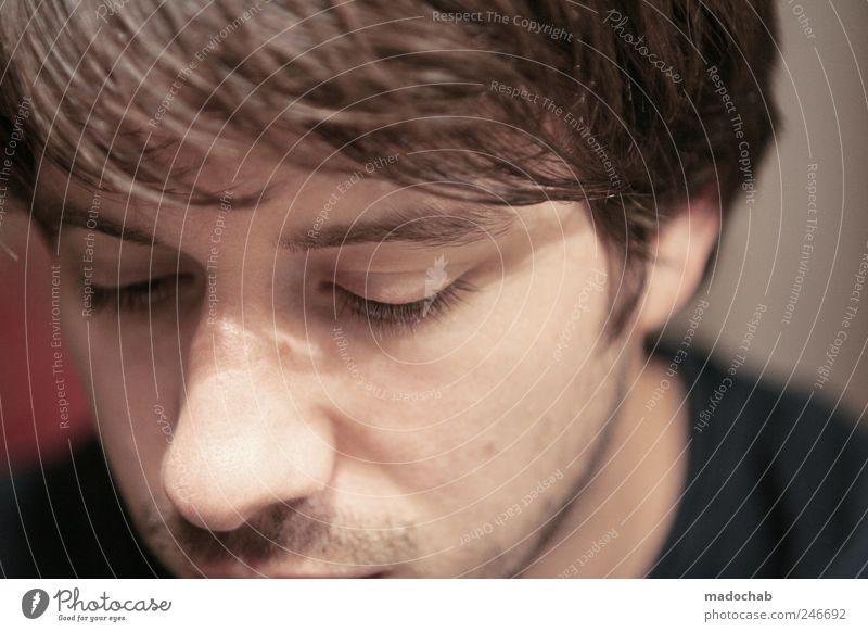 Der beste Koch der Welt. Mensch Mann ruhig Gesicht Erholung Gefühle Erwachsene Kopf Haare & Frisuren Stimmung Zufriedenheit ästhetisch Lifestyle Hoffnung weich Konzentration