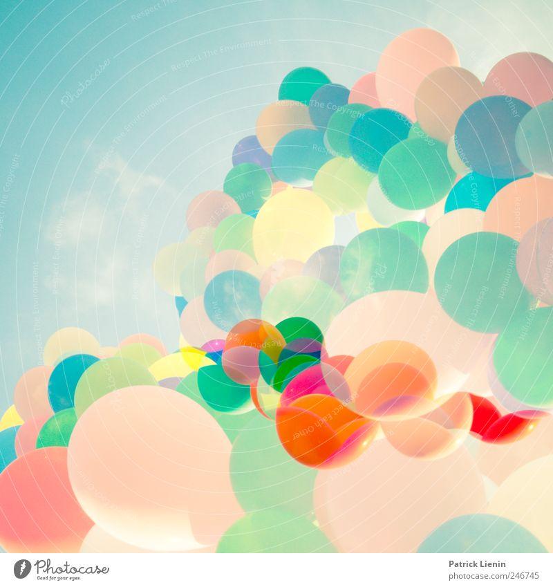 888 Luftballons Himmel Sommer Freude Erholung Leben Spielen Freiheit Stil träumen Kunst Freizeit & Hobby elegant Energie rund