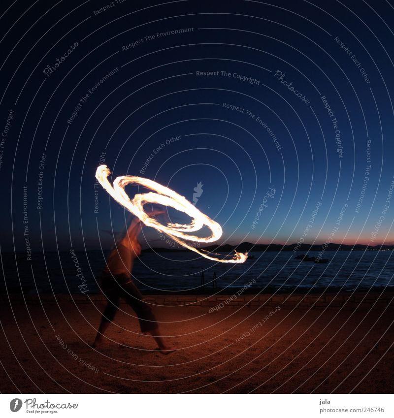 spinner Himmel Natur Meer Umwelt Landschaft Spielen Küste Freizeit & Hobby Feuer Artist Akrobatik Beruf Sonnenuntergang Außenaufnahme