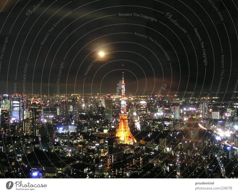 full moon in tokyo Vollmond Tokyo Nacht Langzeitbelichtung Erfolg Stadt
