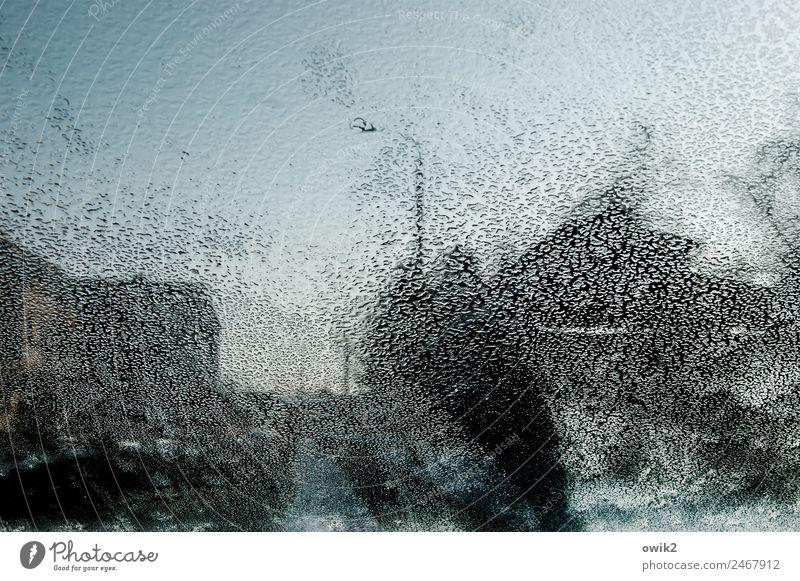 Land unter Wassertropfen Wolkenloser Himmel Winter schlechtes Wetter Regen Baum Blönsdorf Landkreis Teltow-Fläming Deutschland Dorf Haus Straßenbeleuchtung