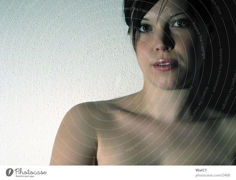 Mädchen 2 Frau Natur Erotik nackt Haut Dame Leberfleck Porträt