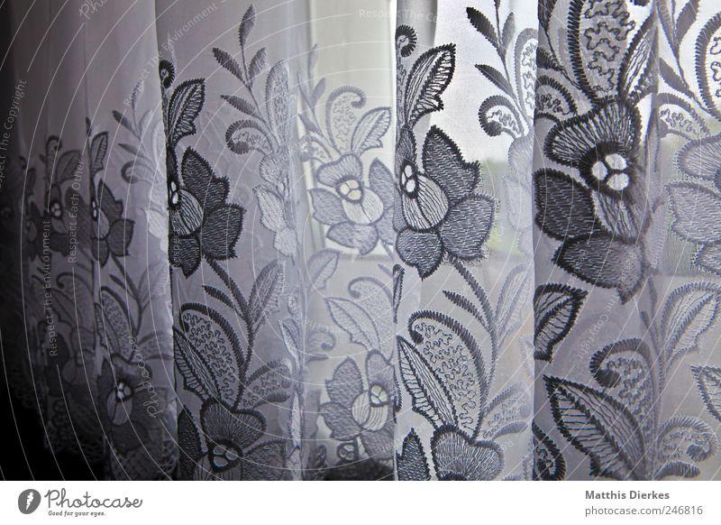 Gardine Einsamkeit Traurigkeit Stil Tod Linie Wohnung Design Häusliches Leben Dekoration & Verzierung trist ästhetisch einzigartig Trauer Stoff Wohnzimmer Vorhang