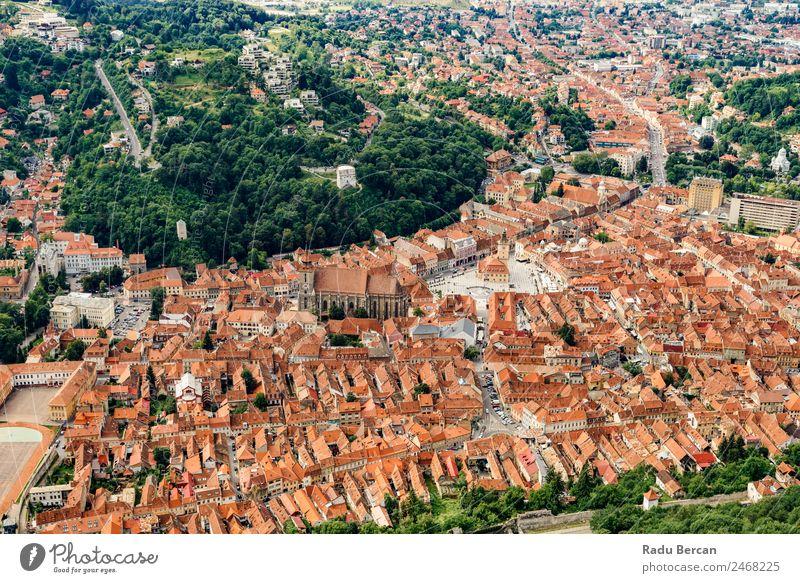 Luftaufnahme der Stadt Brasov in Rumänien Transsilvanien alt Aussicht Ferien & Urlaub & Reisen Europa Architektur