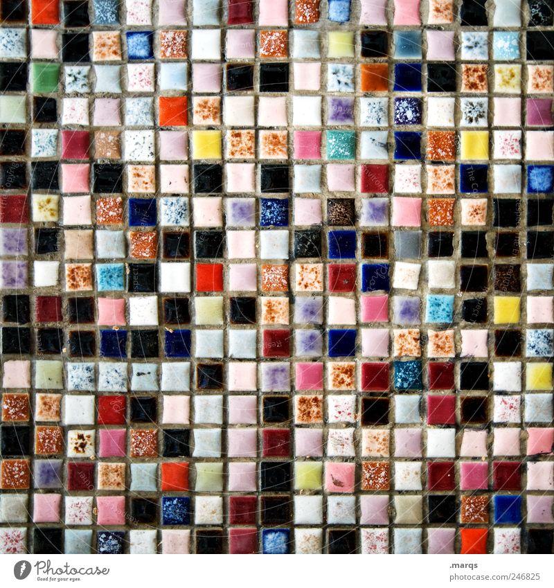 289 Design Mauer Wand Mosaik Fliesen u. Kacheln einzigartig viele mehrfarbig chaotisch Farbe Vielfältig Farbfoto Detailaufnahme Muster Strukturen & Formen