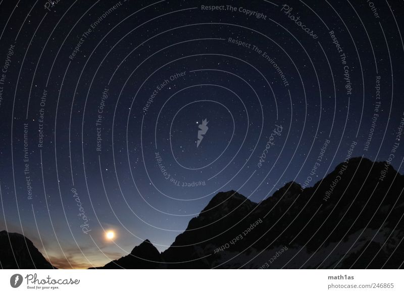 Starshot Dachstein Himmel Natur ruhig Berge u. Gebirge Stern Gelassenheit Gipfel Mond Wert geduldig Dachsteingruppe