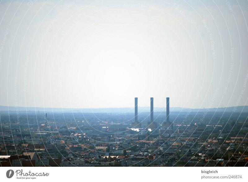 Berlin von oben Himmel Stadt Berlin grau Europa Fabrik Bundesadler Schornstein Hauptstadt Stromkraftwerke