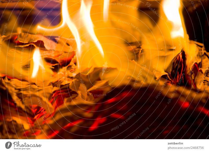 Brennende Akten Feuer Brand brennen Flamme Heizung heiß Wärme Brennholz Herd & Backofen Ofenheizung verbrannt Versicherung Papierkorb aktenvernichtung